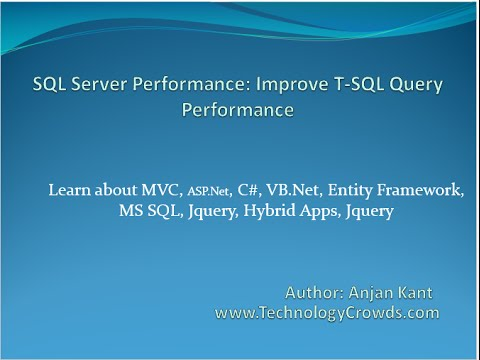 SQL Server Performance: Improve T-SQL Query Performance - YouTube