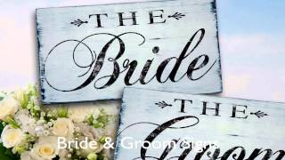 Wedding Signs Made Of Wood With Rustic Look