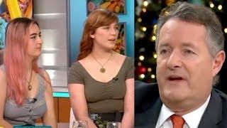 Piers Morgan Goes BALLISTIC On Vegan Girls