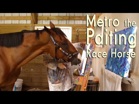 WATCH: Painting Horse Creates Masterpieces to Save His Friends
