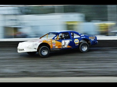 IMCA Stock Car (CVT's) at Rocky Hill Speedway 6-21-2014 Heat