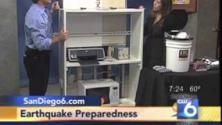 SAFE-T-PROOF Earthquake Preparedness Demonstration on San Diego CW 6 News