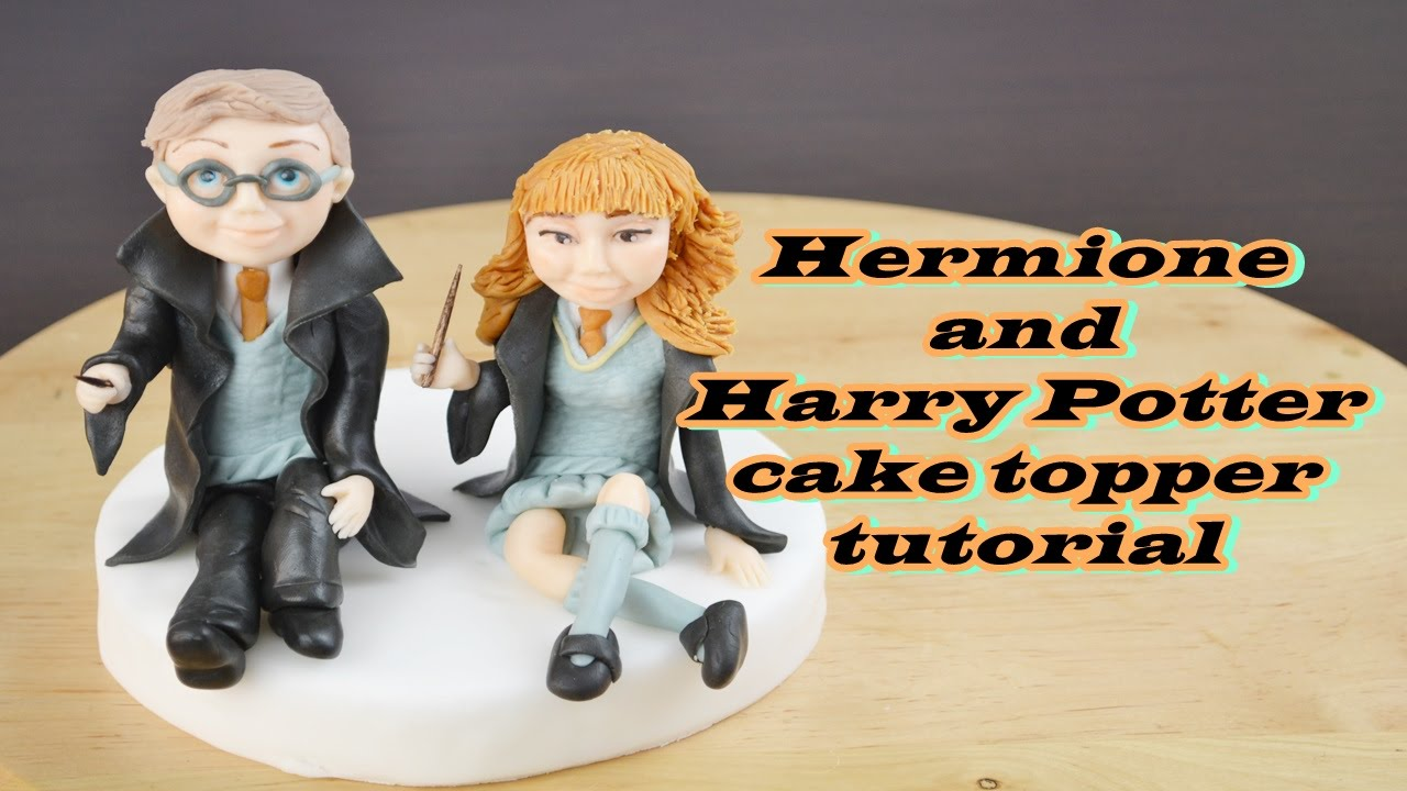 Hermione And Harry Potter Cake Topper Fondant Tutorial
