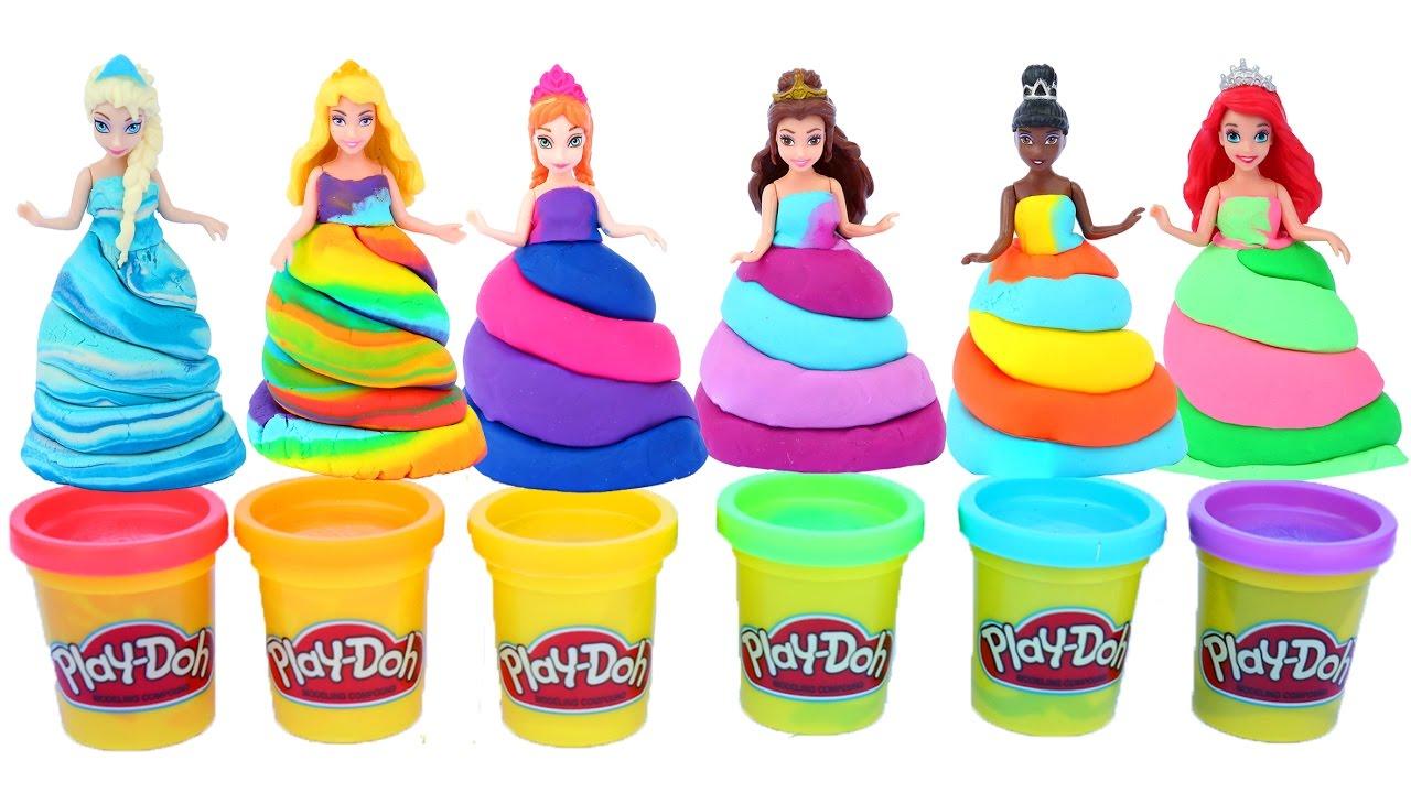 Diy How To Make Disney Princess Play Doh Dresses Frozen Elsa Anna