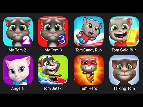 Download My Tom 2, My Tom 3, Tom Candy Run, Tom Gold Run, Tom Hero, Tom Jetski, Talking Tom, Angela