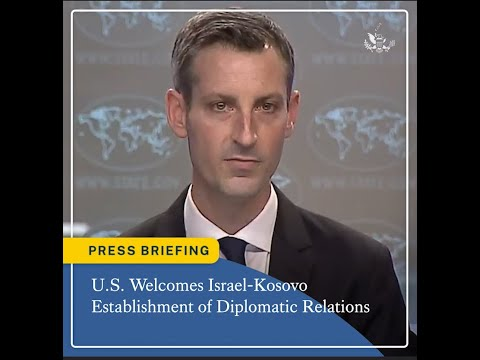 The United States Welcomes Israel-Kosovo Establishment Of Diplomatic Relations