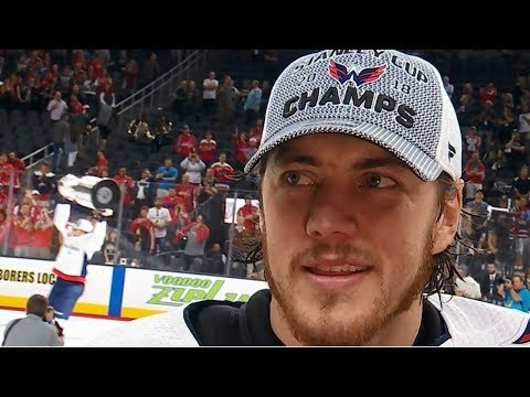 Emotional TJ Oshie overcome with joy following Stanley Cup win