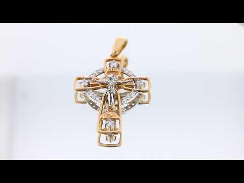 Крест из золота арт. п902скб