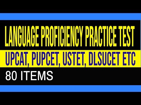 Entrance Exam Reviewer  - 80 Items  Language Proficiency Practice Test