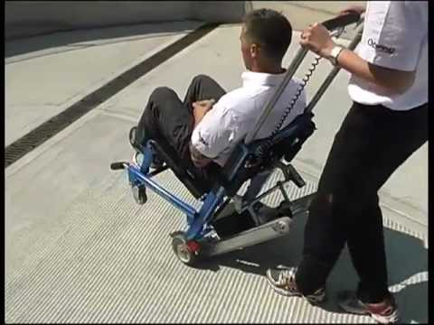 How to use FERNO EZGlide Power Traxx Stair Chair  YouTube