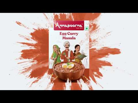 Annapoorna Egg Curry Masala - Unveiling the new packaging