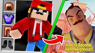 Minecraft - HOW TO BECOME THE SECRET NEIGHBOR!!