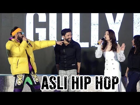 Live : ranveer singh Asli Hip Hop Song With Alia Bhatt gully boy trailer launch