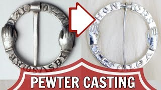 (Poorly) Copying a Medieval Silver Pin in Pewter!