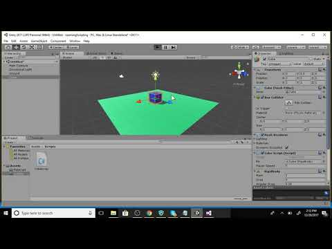 Coding the WASD keys in Unity!