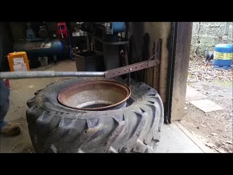 home made tire bead breaker youtube. Black Bedroom Furniture Sets. Home Design Ideas