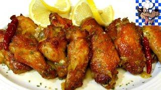 Chinese Lemon Chicken Wings - Crispy BAKED Chicken Wing Recipe
