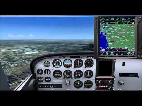 A2A Cessna 172 flight with GTN 750 addon for LPV approach to KAPF
