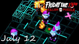 Friday the 13th Killer Puzzle Daily Death July 12 2020 Walkthrough