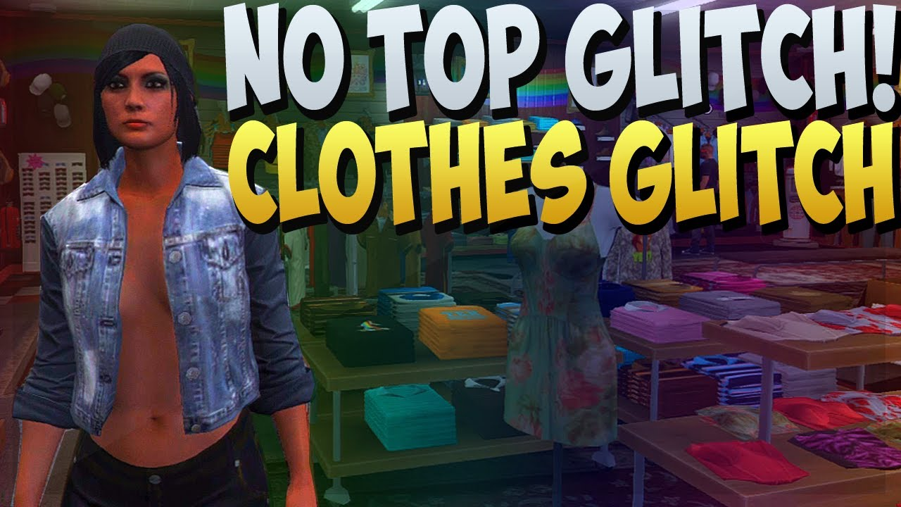 gta 5 online no top glitch female character without