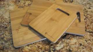 Premium Bamboo Cutting Boards - 3 Piece Set