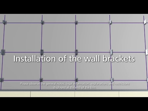 StoVentec curtain walls - how to install the wall brackets for the sub-construction