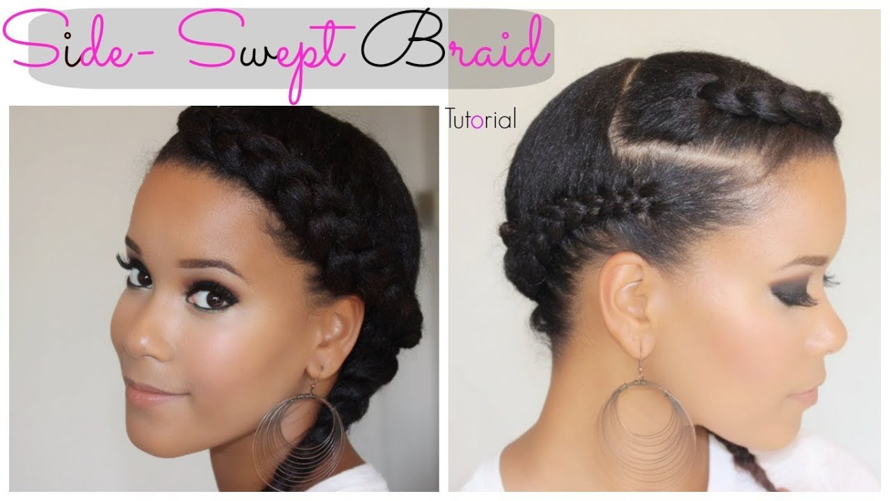 Side Swept Braid Tutorial Youtube