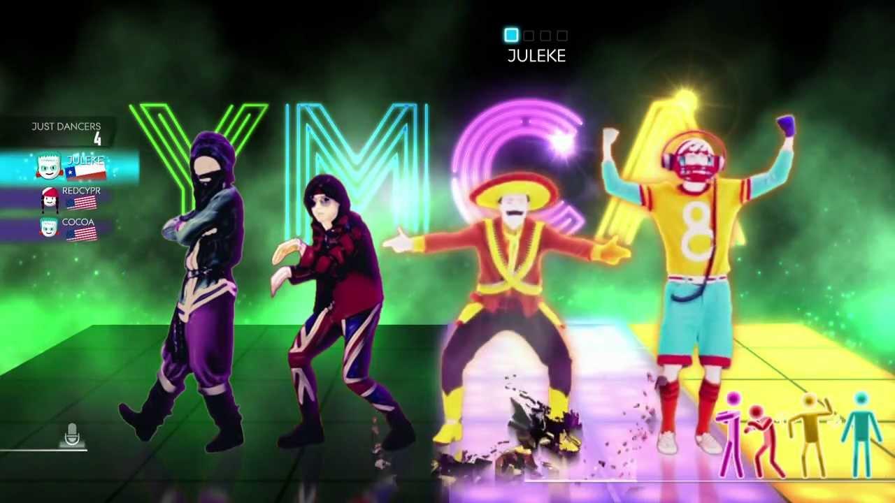 dance world dancefloor wii gameplay village people ymca youtube