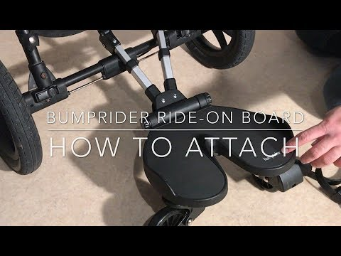 How To Attach And Adjust A Bumprider Ride-on Board To Any Stroller