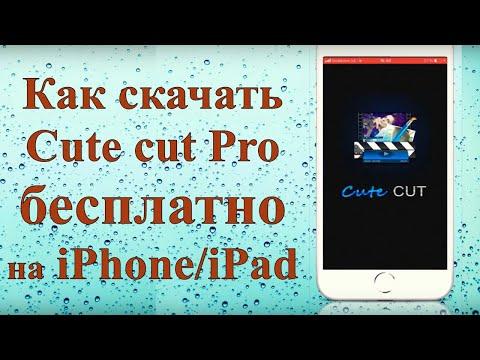 Как бесплатно скачать видеоредактор Cute Cut Pro на IPhone/iPad