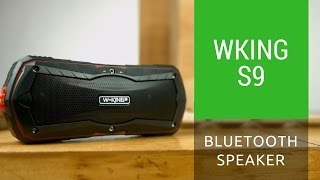 wking s9 bluetooth speaker actual video unboxing and sound test