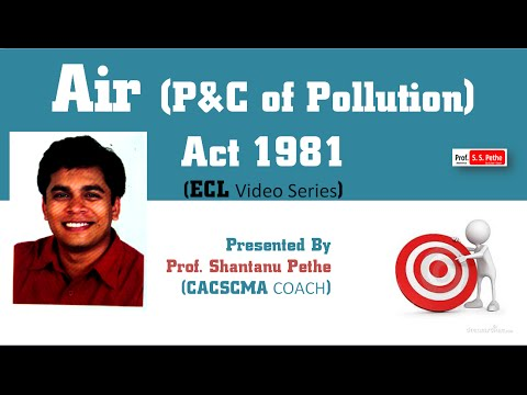 ECL   Air (Prevention & Control of Pollution) Act 1981