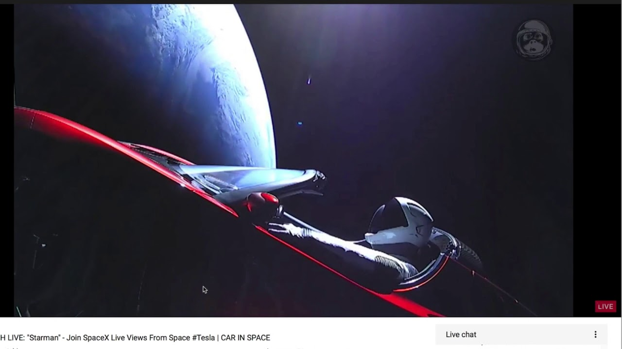 tesla car in space live. car in #space questions and observations on the #starman tesla space live