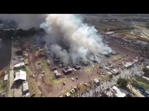 [Breaking] The aftermath of an explosion at a mexican fireworks factory
