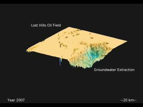 Ground subsidence in California San Joaquin Valley (2002-2010)