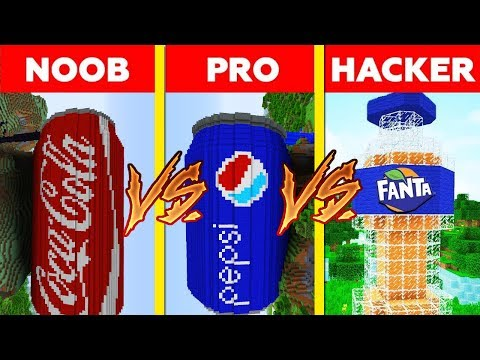 Minecraft - NOOB vs PRO vs HACKER: PEPSI vs COCA COLA vs FANTA in Minecraft ! AVM SHORTS Animation thumbnail