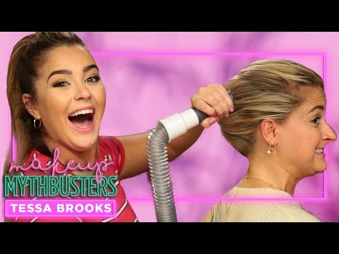We Try the Vacuum Ponytail Technique?  Makeup Mythbusters w Tessa Brooks