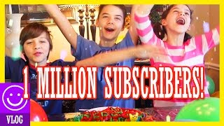 1 MILLION SUBSCRIBERS!!  | SURPRISE YOUTUBER CONGRATULATIONS COLLAB & BALLOON DROP!   KITTIESMAMA