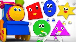 five little shapes | Kids Tv Show | nursery rhyme | Shapes Song Kids Tv | Bob The Train