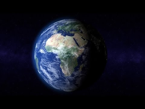 Rotating Planet Earth With Atmosphere 01 - free HD transition footage