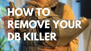 How To Remove Your Db Killer From Your AKRAPOVIC Exhaust System SOUND Yamaha Mt-09 / XSR900 / FZ09