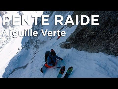 Aiguille Verte Voie Washburn Stofer ski snowboard Chamonix Mont-Blanc alpinisme pente raide montagne