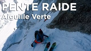 Aiguille Verte Voie Washburn Stofer ski snowboard Chamonix Mont-Blanc alpinisme pente raide - 11182