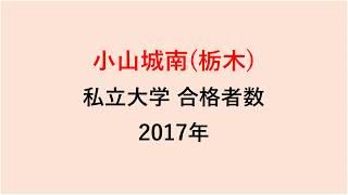 小山城南高校 大学合格者数 2017~2014年【グラフでわかる】