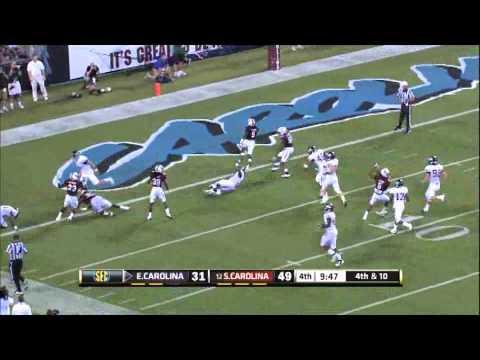 Ace Sanders Punt Return for TD - South Carolina vs. ECU 2011