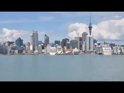 Auckland New Zealand Skyline Harbor