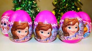 Сюрпризы из мультик Принцесса София Игрушки Видео для детей Surprise Eggs Disney toys Princess Sofia