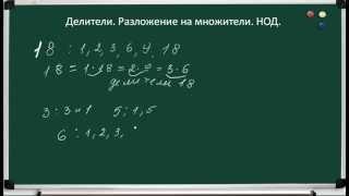 Математика. Делители.