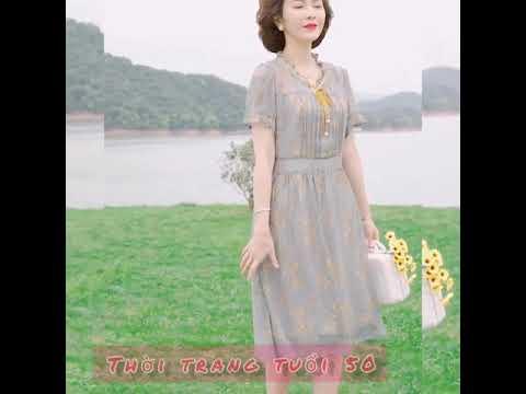 20.Váy trung niên đẹp nhất| Thời trang trung niên U50-U60
