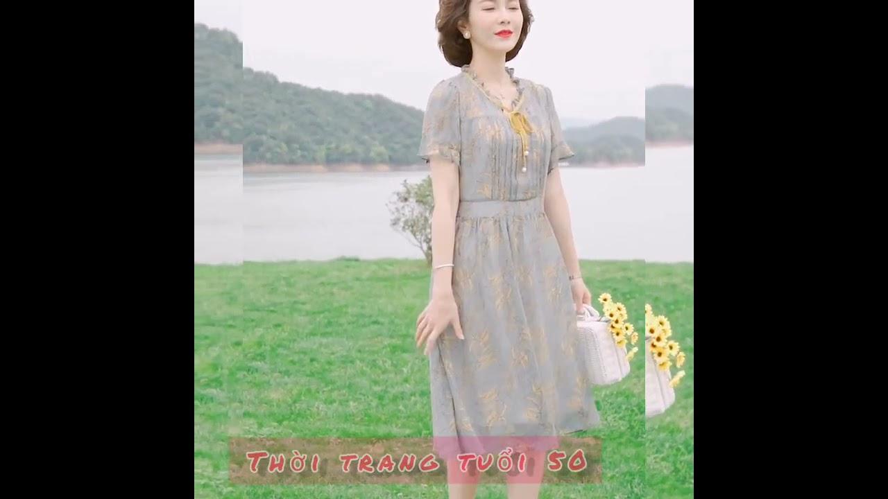 20.Váy trung niên đẹp nhất| Thời trang trung niên U50-U60 | Khái quát các nội dung về thời trang trung niên chuẩn nhất